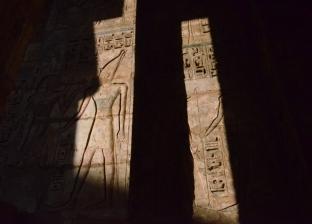 «الشمس» تربط معبدَى «الكرنك وهابو» فى الأقصر