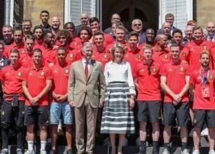 ملك بلجيكا يستقبل المنتخب البلجيكي بعد برونزية كاس العالم