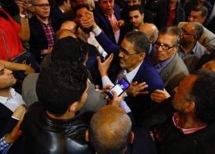 بالصور| ضياء رشوان يتلقى التهنئة بعد مؤشرات فوزه بمنصب نقيب الصحفيين