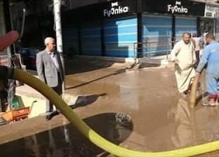 انتشار سيارات شفط المياه بشوارع وميادين الغربية لشفط مياه الأمطار