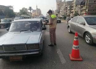 ضبط 31 سيارة ملاكي تعمل بالأجرة في الغربية