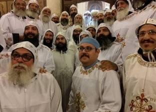 دير الأنبا بيشوي يسيم ويرقي عدد من الرهبان والكهنة