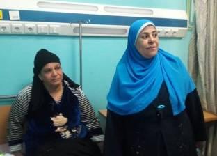 """وكيلة """"التضامن"""" تزور مصابي حادث انهيار عقار منشأة ناصر"""