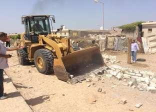 بالصور| حملة لإزالة التعديات على أملاك الدولة بقرية الوادي بالطور