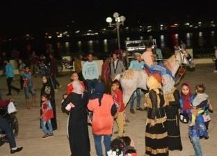 توافد المواطنين على الحدائق والمتنزهات بسوهاج للاحتفال بشم النسيم