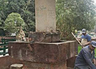 إصلاح كسر بماسورة مياه الشرب خط 1500 بعزبة كرملة بالإسكندرية