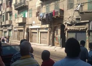 في أول أيام العيد.. انهيار أجزاء من عقار بالإسكندرية وإصابة سيدة