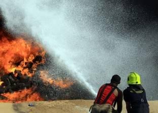 بسبب الحرارة المرتفعة.. اندلاع النيران في 6 عشش ومزرعة موالح ببني سويف