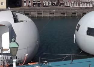 """بالفيديو  فندق على شكل كرة عائمة تبحر ليلا.. هربا من """"التسونامي"""""""