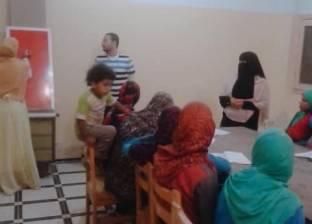 """بالصور  مساعد رئيس مدينة الحامول يختبر دارسي """"محو الأمية"""" في """"قليني"""""""