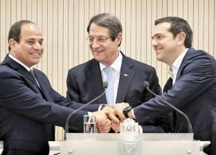 «السيسى» فى «القمة الثلاثية»: ملتزمون بإعادة الأمن والاستقرار إلى «شرق المتوسط»