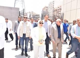 وزيرة الصحة تزور مستشفى العلمين لمتابعة أعمال التطوير