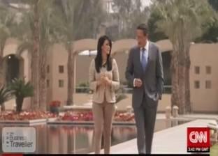 """وزيرة السياحة تسجل مع """"cnn"""" من سفح الأهرامات"""