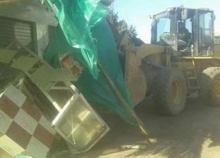 حملة مكبرة لإزالة الإشغالات بقرية تفتيش السرو في دمياط