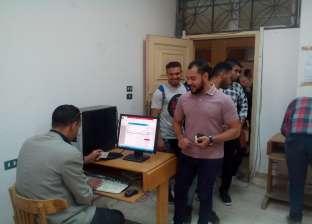 """إقبال كثيف داخل لجان """"تجارة حلوان"""" في أول أيام انتخابات اتحاد الطلاب"""