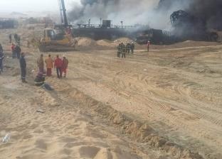"""مصدر بـ""""البترول"""": الاستعانة بخبراء أجانب لإطفاء حريق بئر حقل """"عسل"""""""