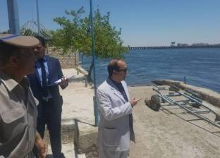 بالصور| مساعد وزير الداخلية لوسط الصعيد يتفقد المسطحات المائية
