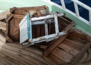 البحث عن جثث المركب الغارق في المجرى الملاحي بمدينة أبو زنيمة