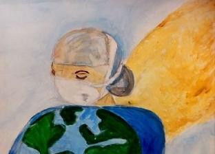 """لتسلية أوقاتهم والترفيه عنهم: أطفال يرسمون الحياة بعد """"كورونا"""""""