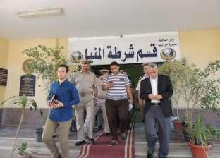 مدير أمن المنيا يتفقد حجز قسم شرطة المدينة