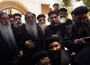 وفد من الأساقفة يطالب آباء الفيوم بالضغط على الأنبا إبرام