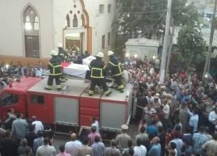 بالصور  جنازة عسكرية لشهيدي الحملة الأمنية بقويسنا وسط هتافات الأهالي
