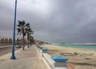 تكاثر الغيوم وانخفاض درجات الحرارة في شمال سيناء