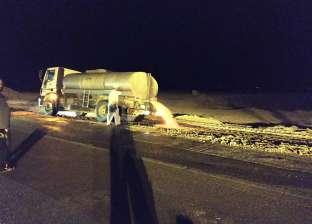 إجراءات لحماية المواطنين من هبوط أرضي على الطريق الدولي بجنوب سيناء