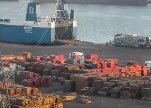 154 ألف طن قمح رصيد صومعة الحبوب والغلال في ميناء دمياط