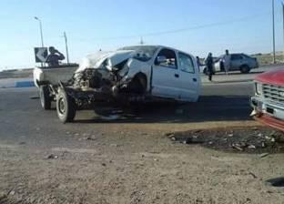 اصابة 4 أشخاص في حادث تصادم سيارتين بمدخل قرية بالغنايم بأسيوط