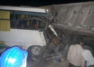 إصابة 9 أشخاص في تصادم سيارتين على الطريق الدولي الساحلي بالبحيرة