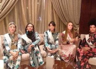 """ملكات جمال العالم للسياحة في حفل فلكولوري بـ""""جلابية بارتي"""" بالغردقة"""