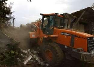 إيقاف حالة تعدي على أراضي أملاك الدولة في بني مزار بالمنيا