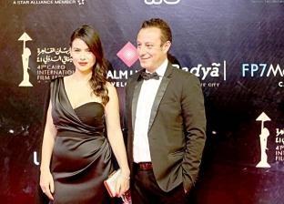 """صور.. رانيا يوسف ومحمد حفظي يحضران العرض الخاص لـ""""بيك نعيش"""""""