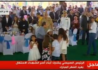 السيسي يصل إلى مركز المنارة للاحتفال مع أسر الشهداء بعيد الفطر