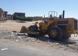 بالصور| حملة نظافة موسعة بمنطقة حي الزيتون استعدادا لعيد الأضحى