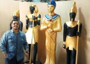«سامبو» يتحدى الصين بتماثيل فرعونية: شغل «هاند ميد»