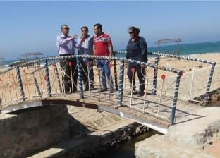 بالصور| تطوير وتجميل الشاطئ العام بمدينة أبو رديس