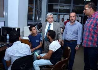 نائب رئيس جامعة طنطا لشؤون التعليم والطلاب يتفقد مكتب التنسيق الرئيسي