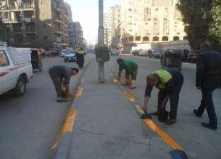 رفع 150 طن أتربة من المريوطية ونظافة شارع خاتم المرسلين بالعمرانية