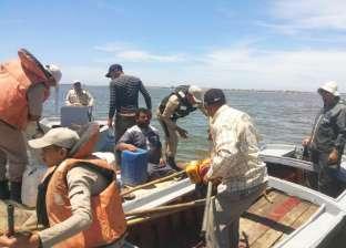 صور| ضبط عدد من المخالفات والصيد الجائر ببحيرة البرلس