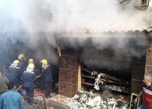السيطرة على حريق بسوبر ماركت وامتداد النيران لسيارة ملاكي بالإسكندرية