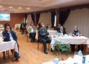 رضا الغندور يستقبل وفدا من جمعية رجال أعمال إسكندرية
