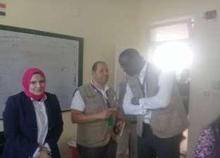 """بالصور  وصول بعثة الاتحاد الإفريقي """"سيزا نبراوي"""" لتفقد اللجان"""