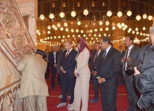 بالصور| جولة رئيس بلغاريا وقرينته بقلعة صلاح الدين والمتحف