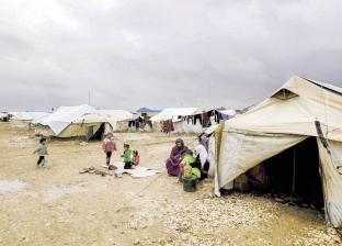 الأمطار الغزيرة تغرق مخيمات النازحين في مناطق الشمال السوري