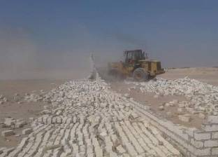 إزالة تعديات على 70 فدانأملاك الدولة بالغردقة في البحر الأحمر