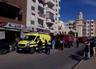 نشوب حريق بسكن التمريض بمستشفى الغردقة العام