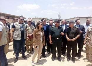 بالصور| وزيرا الري والاستثمار يتفقدان مشروع المنطقة الاستثمارية بالصف