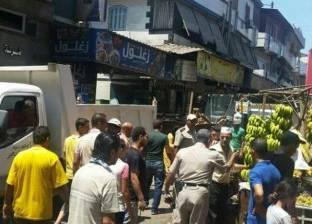 حملة لإزالة الإشغالات في حي المنتزه ثان بالإسكندرية